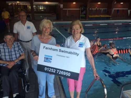 Farnhamswimability at Farnham Sports Centre